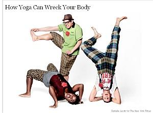Yoga kann Ihre Gesundheit gefaehrden NYTscreenshot
