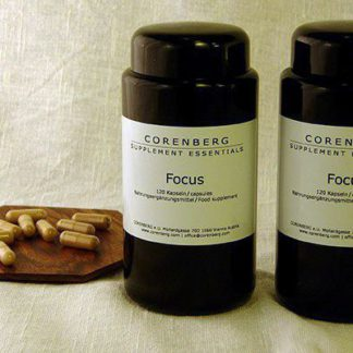 CORENBERG® Focus Mentalkapseln Guarana Ginseng PS 2x120 Stk