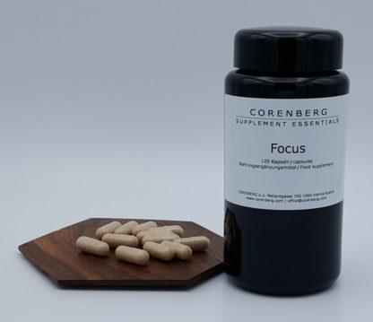 CORENBERG® Focus Capsules with vegan caps