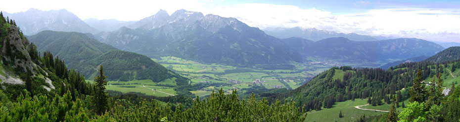 View from Grabnerstein towards Admont/Weng, Styria, (C) E. B. Bachler