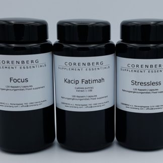 Bundle of Focus, Stressless and Kacip Fatimah capsules